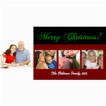 Merry Christmas 4 Photos Cards - 4  x 8  Photo Cards
