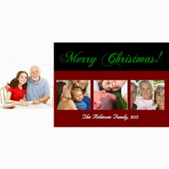 Merry Christmas 4 Photos Cards By Angela   4  X 8  Photo Cards   8hl7z7ab6q6s   Www Artscow Com 8 x4 Photo Card - 8