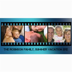 Blue Filmstrip 3 Photos Cards By Angela   4  X 8  Photo Cards   Gmh9fma1o9cq   Www Artscow Com 8 x4  Photo Card - 4