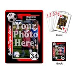 Custom Soccer Trading Cards, Photo Playing Cards - Playing Cards Single Design