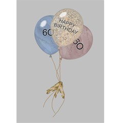 60th Birthday Card By Lil    Greeting Card 5  X 7    U2tdew9vylyr   Www Artscow Com Back Inside