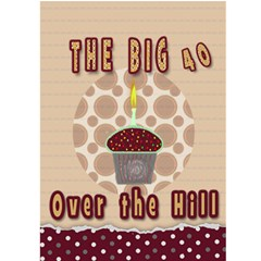40th Birthday Card  Over The Hill By Danielle Christiansen   Greeting Card 5  X 7    30b0jeqvs78z   Www Artscow Com Back Cover