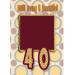 40th Birthday Card  Over The Hill By Danielle Christiansen   Greeting Card 5  X 7    30b0jeqvs78z   Www Artscow Com Back Inside