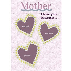 Mother s Day Card By Danielle Christiansen   Greeting Card 5  X 7    7mxz66saw27i   Www Artscow Com Front Inside