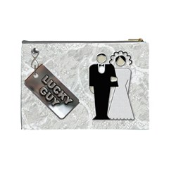 Wedding Cosmetic Case By Lil    Cosmetic Bag (large)   Ud4yr2jtj3g6   Www Artscow Com Back
