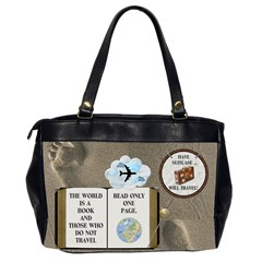 Vacation Bag By Lil    Oversize Office Handbag (2 Sides)   Rca1whdchrph   Www Artscow Com Back