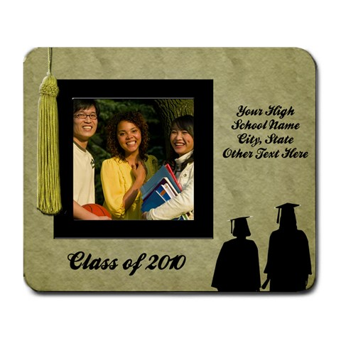 Graduation Photo Mousepad, One Photo By Angela   Large Mousepad   M8pwcmdxisrd   Www Artscow Com Front