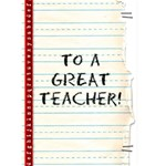Teacher card - Greeting Card 5  x 7