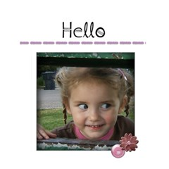Hello Card By Amanda Bunn   Greeting Card 4 5  X 6    R1wrv875h6u7   Www Artscow Com Front Cover