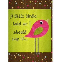 A little birdie just saying hi by Redhead Scraps Front Cover