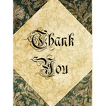Vintage Wallpaper Thank You - Greeting Card 4.5  x 6