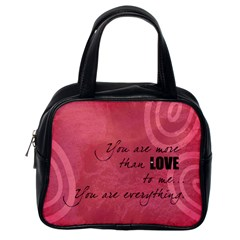 Love Is In The Air Red   Bag By Carmensita   Classic Handbag (two Sides)   1p7hqojgn4bf   Www Artscow Com Back