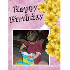 Jorge Birthday Flower Greetin Card By Jorge   Greeting Card 4 5  X 6    Pez7nxjfiwpq   Www Artscow Com Front Cover