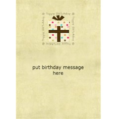 Birthday Card 1 By Sheena   Greeting Card 5  X 7    Dze1r56u4rsd   Www Artscow Com Back Inside