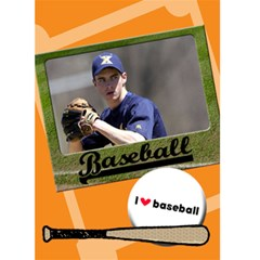 I Love Baseball   Custom Greeting Card 5  X 7  By Carmensita   Greeting Card 5  X 7    Ye7711vhixi4   Www Artscow Com Front Cover