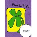 GOOD LUCK- Custom Greeting Card 5  x 7