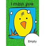 I MISS YOU - Custom Greeting Card 5  x 7