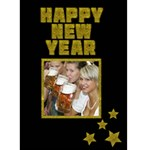 HAPPY NEW YEAR yellow - Custom Greeting Card 5  x 7