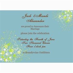 Wedding Invites By Mandi   5  X 7  Photo Cards   Uaz515uqrpos   Www Artscow Com 7 x5 Photo Card - 1