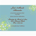 Wedding Invites - 5  x 7  Photo Cards