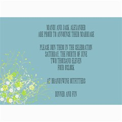 Wedding Invites By Mandi   5  X 7  Photo Cards   Uaz515uqrpos   Www Artscow Com 7 x5 Photo Card - 3
