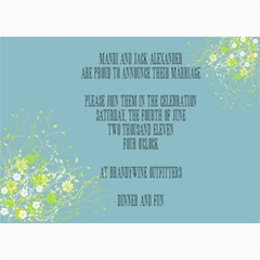 Wedding Invites By Mandi   5  X 7  Photo Cards   Uaz515uqrpos   Www Artscow Com 7 x5 Photo Card - 7
