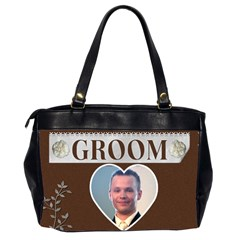 Bride & Groom Bag By Lil    Oversize Office Handbag (2 Sides)   8v4m40jf0hwl   Www Artscow Com Back
