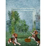 doggie love 1 - Greeting Card 4.5  x 6