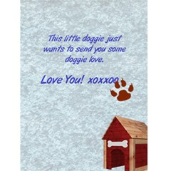 Doggie Love 1 By Snackpackgu   Greeting Card 4 5  X 6    J9hdgypl538q   Www Artscow Com Back Inside