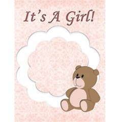 It s A Girl By Rubyjanedesigns   Greeting Card 4 5  X 6    3dls5uut2e91   Www Artscow Com Front Cover