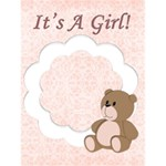 it s a girl - Greeting Card 4.5  x 6