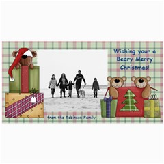 Bear Merry Christmas Photo Cards By Angela   4  X 8  Photo Cards   Qb5j2fznmn5u   Www Artscow Com 8 x4 Photo Card - 3