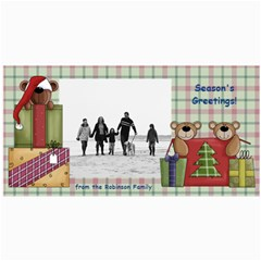 Bear Merry Christmas Photo Cards By Angela   4  X 8  Photo Cards   Qb5j2fznmn5u   Www Artscow Com 8 x4 Photo Card - 5