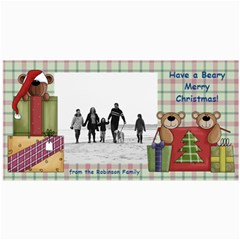 Bear Merry Christmas Photo Cards By Angela   4  X 8  Photo Cards   Qb5j2fznmn5u   Www Artscow Com 8 x4 Photo Card - 6