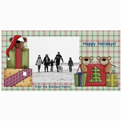 Bear Merry Christmas Photo Cards By Angela   4  X 8  Photo Cards   Qb5j2fznmn5u   Www Artscow Com 8 x4 Photo Card - 10