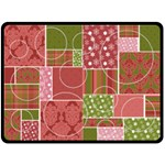 Christmas Patchwork Quilt - Extra Large Blanket - Fleece Blanket (Large)