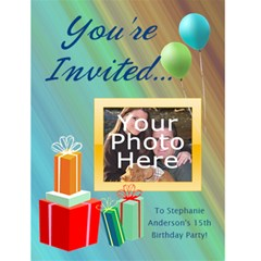 Photo Birthday Party Invitations By Angela   Greeting Card 4 5  X 6    Ch4mtsuk8626   Www Artscow Com Front Cover