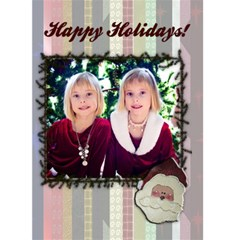 Christmas Card Template By Danielle Christiansen   Greeting Card 5  X 7    Cch27cmab8oj   Www Artscow Com Front Cover