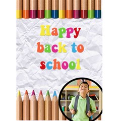 Happy Back To School   Custom Greeting Card 5  X 7  By Carmensita   Greeting Card 5  X 7    Rt7cm8mnfykt   Www Artscow Com Front Cover