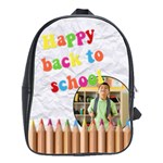 HAPPY BACK TO SCHOOL - School bag large - School Bag (Large)