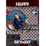 Boys birthday card - Greeting Card 5  x 7