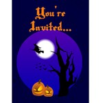 Halloween Party Invitations - Greeting Card 4.5  x 6