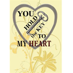 Key To My Heart Card By Lil    Greeting Card 5  X 7    R1uq4orcxljb   Www Artscow Com Front Cover