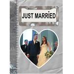 Just Married Card - Greeting Card 5  x 7