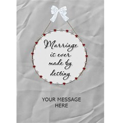 Just Married Card By Lil    Greeting Card 5  X 7    Rb1swhfj85sb   Www Artscow Com Back Inside