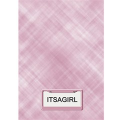 It s A Girl Card By Lil    Greeting Card 5  X 7    Q0enpb4wl0ol   Www Artscow Com Back Cover