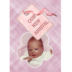 It s A Girl Card By Lil    Greeting Card 5  X 7    Q0enpb4wl0ol   Www Artscow Com Front Cover