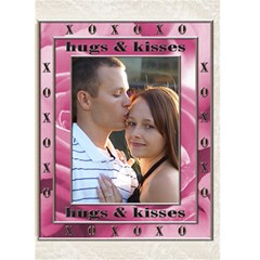 Hugs & Kisses Card By Lil    Greeting Card 5  X 7    3xxrw5rdz3s0   Www Artscow Com Front Cover