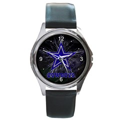 Dallas Cowboys Round Metal Watch by fidzirestroasia
