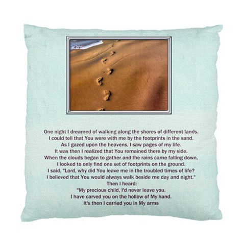 Footprints In The Sand 1 Sided Cushion By Catvinnat   Standard Cushion Case (one Side)   12pyf0z2ltsr   Www Artscow Com Front